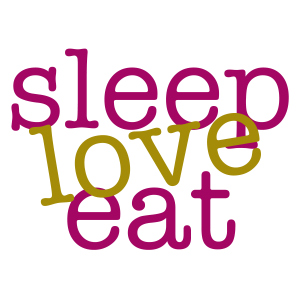 sleep love eat