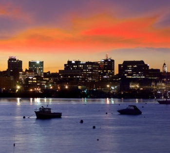 Sunset over the Fore River, Portland, Maine