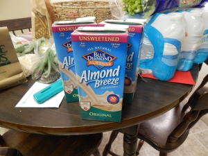 All the almond milk!!