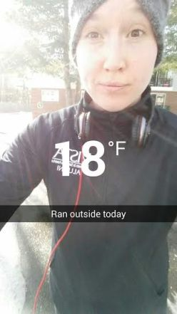 ran outside on mon